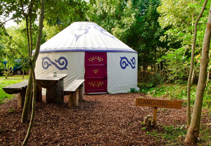 A yurt from the PracedoFest 2020 campsite.