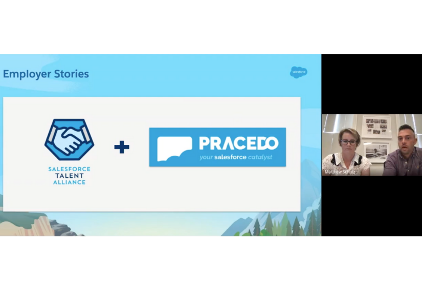 The Salesforce Talent Alliance and Pracedo's Logos