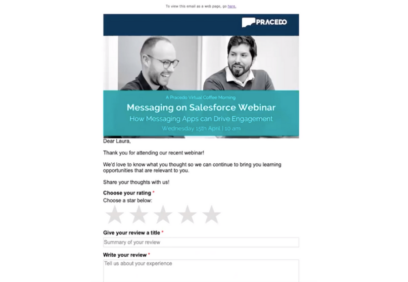 How to build interactive emails in Marketing Cloud | An example of an interactive email