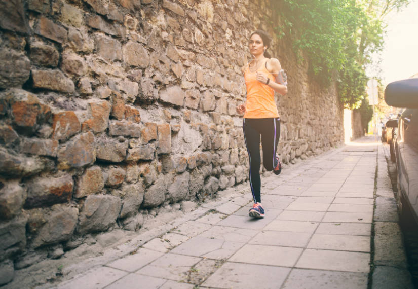 Running in a city for your wellbeing